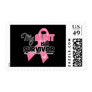 My Aunt is a Survivor - Breast Cancer Stamp