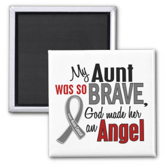 My Aunt Is An Angel 1 Brain Cancer 2 Inch Square Magnet