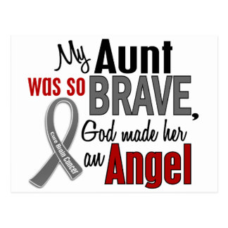 My Aunt Is An Angel 1 Brain Cancer Postcard