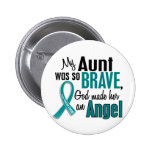 My Aunt Is An Angel 1 Ovarian Cancer Buttons