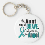 My Aunt Is An Angel 1 Ovarian Cancer Keychain