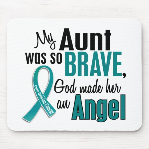My Aunt Is An Angel 1 Ovarian Cancer Mousepad