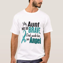 My Aunt Is An Angel 1 Ovarian Cancer T-Shirt