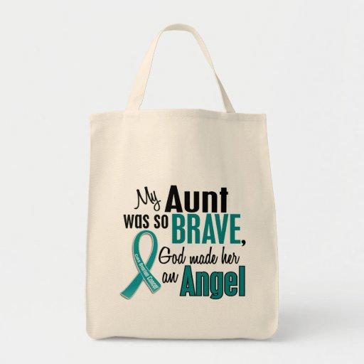 My Aunt Is An Angel 1 Ovarian Cancer Tote Bag