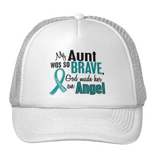 My Aunt Is An Angel 1 Ovarian Cancer Trucker Hat