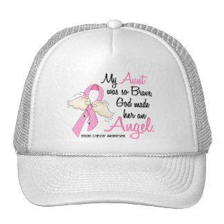 My Aunt Is An Angel 2 Breast Cancer Trucker Hat