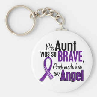 My Aunt Is An Angel Pancreatic Cancer Keychain