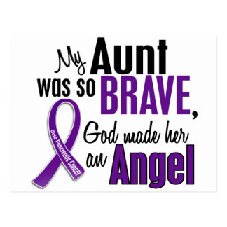 My Aunt Is An Angel Pancreatic Cancer Postcard