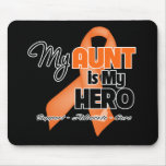 My Aunt is My Hero - Leukemia Mouse Pads