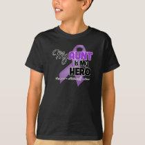 My Aunt is My Hero - Purple Ribbon T-Shirt