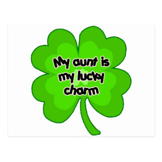 My Aunt is My Lucky Charm Postcard