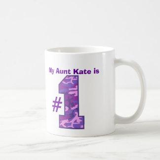My AUNT is Number One Custom Name Purple Camo v1 Classic White Coffee Mug
