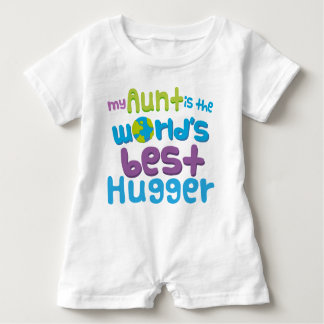 My Aunt is the Worlds Best Hugger baby romper