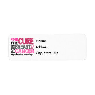 My Aunt Is Waiting Breast Cancer Return Address Label