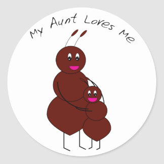 My Aunt Loves Me Ant Stickers