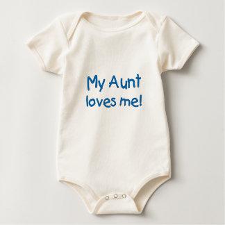My Aunt Loves Me! (blue Baby Bodysuit