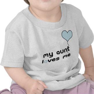 My Aunt loves me blue Heart Balloon Tee Shirt