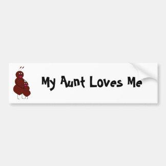 My Aunt Loves Me Bumper Sticker