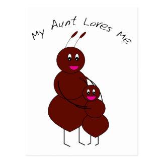 My Aunt Loves Me Postcard