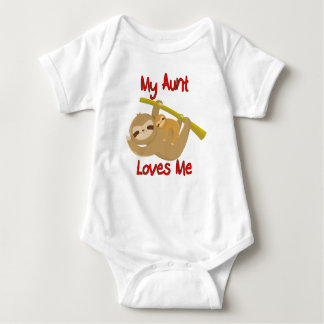 My Aunt Loves Me Sloth Baby Bodysuit