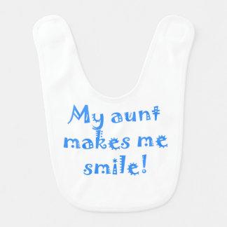 My Aunt Makes Me Smile Baby Bibs
