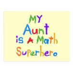 My Aunt Math Superhero T-shirts and Gifts Postcard
