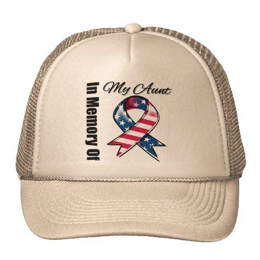 My Aunt Memorial Patriotic Ribbon Trucker Hat