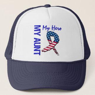My Aunt My Hero Patriotic Grunge Ribbon Trucker Hat