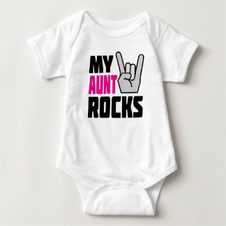 My Aunt Rocks - funny baby creeper