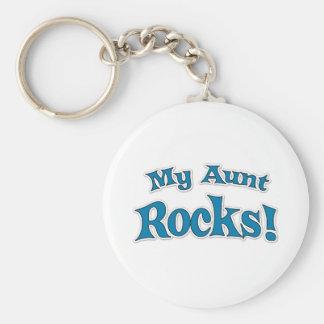 My Aunt Rocks! Basic Round Button Keychain
