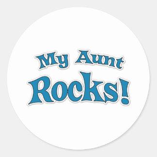 My Aunt Rocks! Classic Round Sticker