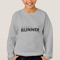 MY AUNTIE IS A RUNNER 10K/GYNECOLOGIC-OVARIAN CANC SWEATSHIRT