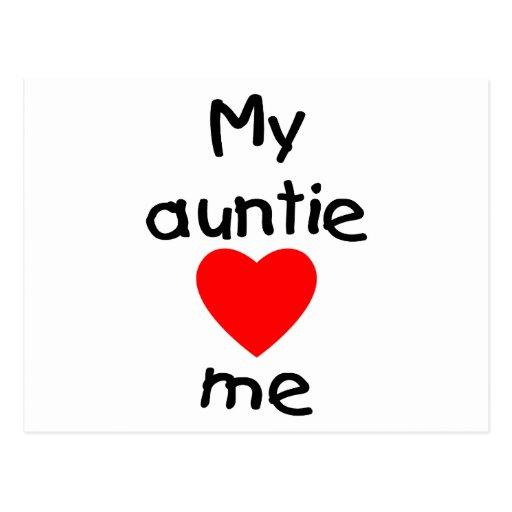 My Auntie Loves Me Postcard