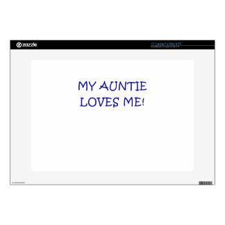 "My Auntie Loves Me 15"" Laptop Skin"