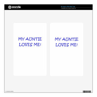 My Auntie Loves Me Decal For Kindle Fire