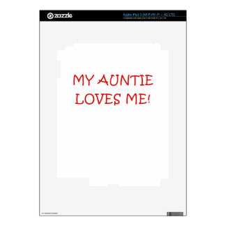 My Auntie Loves Me Decals For iPad 3