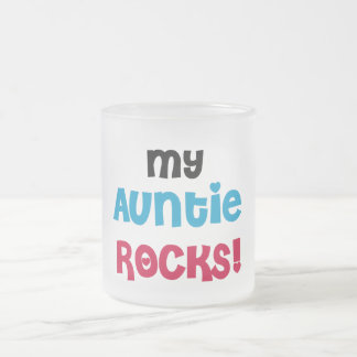 My Auntie Rocks Tshirts and Gifts Frosted Glass Coffee Mug