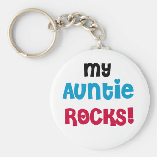 My Auntie Rocks Tshirts and Gifts Basic Round Button Keychain