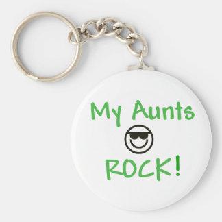 My Aunts Rock Basic Round Button Keychain