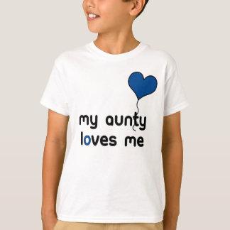 My Aunty loves me dark blue Heart Balloon T-Shirt