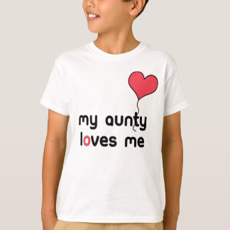 My Aunty loves me red Heart Balloon T-Shirt
