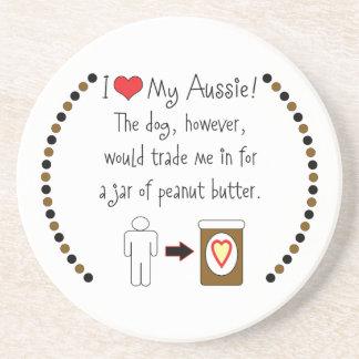 My Aussie Loves Peanut Butter Drink Coaster