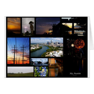 My Austin Collage by James R Granberry Card