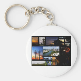 My Austin Collage by James R Granberry Key Chain