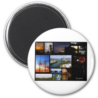 My Austin Collage by James R Granberry 2 Inch Round Magnet