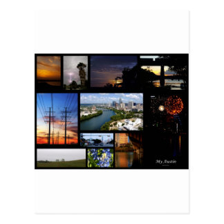 My Austin Collage by James R Granberry Post Card