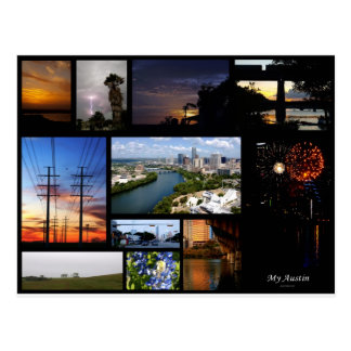 My Austin Collage by James R Granberry Postcard