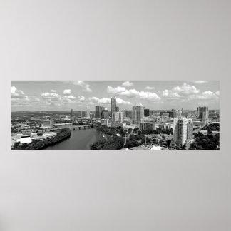 My Austin Skyline BW Poster