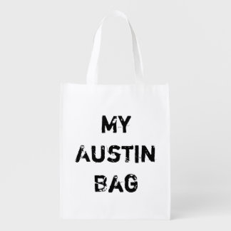 My Austin TX Reusable Grocery No Plastic Bag City Grocery Bags