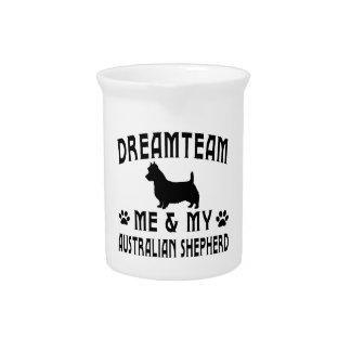 My Australian Shepherd Dog Beverage Pitchers